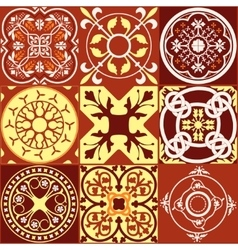 Middle ages square2 vector