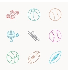 Sport fitness tennis and basketball icons vector