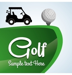 Golf design sport icon isolated vector