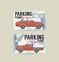 Parking permit card vector