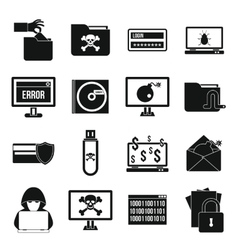 Criminal activity icons set simple style vector