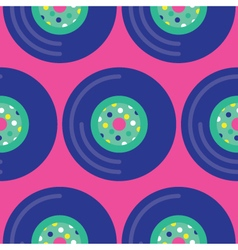 Seamless vinyl record pattern icon vector