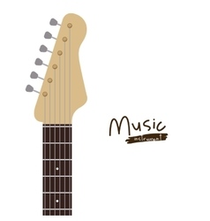 Handle electric guitar isolated icon design vector