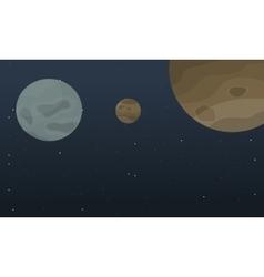 Art outer space planet landscape vector