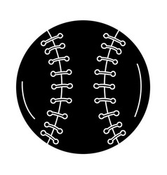 Baseball ball equipment isolated icon vector