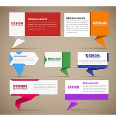 Big set of web banners in origami style vector image