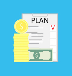 business plan concept vector image