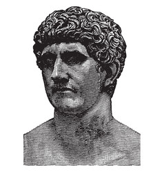 Bust of mark antony a roman politician and vector