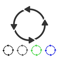 Circular route flat icon vector