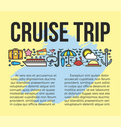 Cruise trip information list vector
