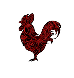 Decorative cock vector