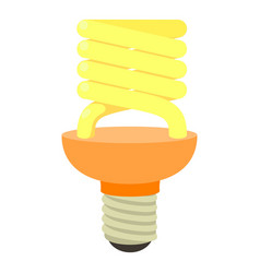 energy saving bulb icon cartoon style vector image