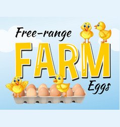Farm fresh eggs poster design vector