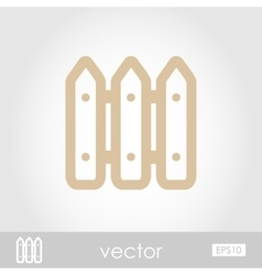 Fence icon vector image