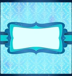 Frozen vintage frame vector image vector image