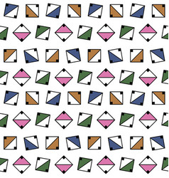 Geometric seamless pattern with squares vector
