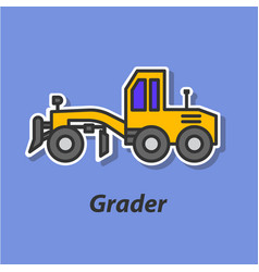 Grader color flat icon vector