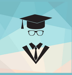 graduate or professor vector image
