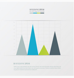 graph and infographic design green blue gray vector image vector image
