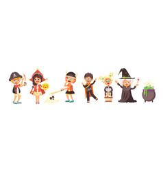 isolated cartoon children vector image vector image