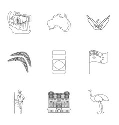 National symbols of australia web icon on vector