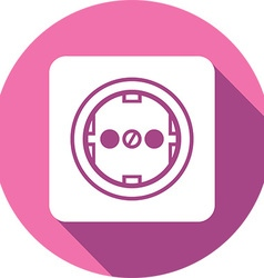 Power plug button icon vector