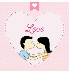 Romantic card75 vector image