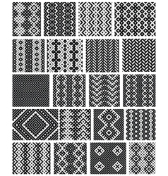 Set of 20 monochrome elegant seamless patterns vector image