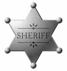 Sheriff's shield vector image