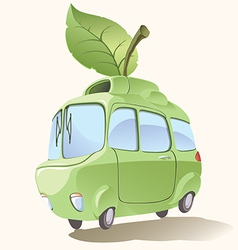 Small eco-friendly car vector