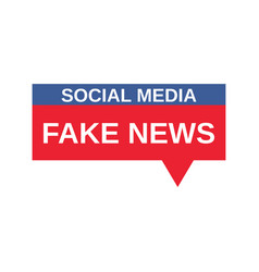 Social media fake news sign vector