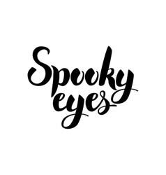 Spooky eyes card vector