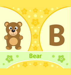 the english alphabet with bear vector image