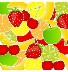 Fresh fruits background vector