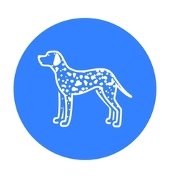 Dalmatian icon in black style for web vector image