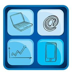 A cube with gadgets vector image
