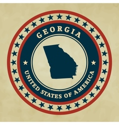 Vintage label georgia vector