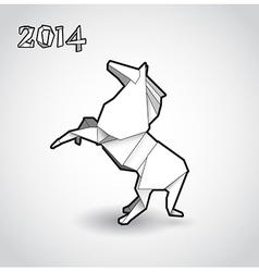 Oriental origami new year horse vector