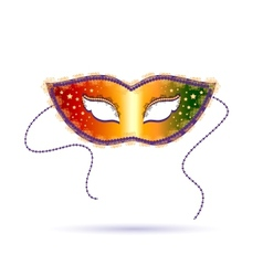 Venetian carnival template with mask vector