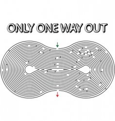 Rounded maze vector
