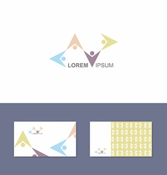 Logo icon design element with business card vector