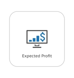 Expected profit icon business concept flat vector