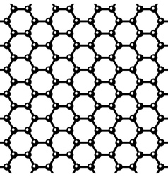 Graphene seamless pattern vector