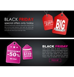 Banners Black Friday sale vector image
