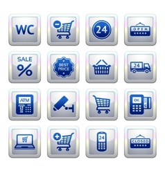Services and shopping symbols vector