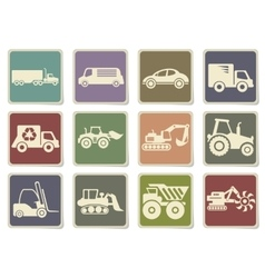 Transportation and loading machines vector