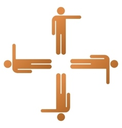 Pointing men gradient icon vector