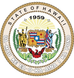 Hawaii seal vector
