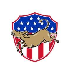 Democrat donkey mascot american flag vector