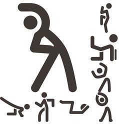 Aerobics icons set vector